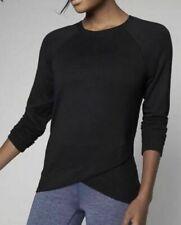 Athleta Criss Cross Sweatshirt L Large Black Long Sleeve Top Ladies