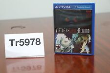 Zero Escape: Virtue's Last Reward FACTORY SEALED (Sony Playstation Vita, 2012)