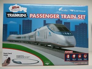 "Atlas - HO Scale ""TRAINKIDS"" Passenger Train Set for Kids  Battery Operated NIB"