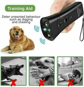 LED Pet Dog Anti Barking Stop Bark Training Repeller Control Device Ultrasonic
