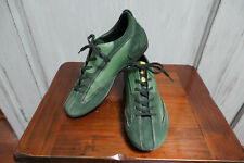 Sabelt Aston Martin Racing Green Leather and Suede Team Kit Shoes Size 38/5.5