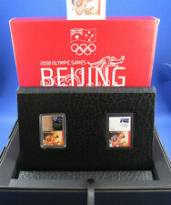 2008 OLYMPIC GAMES BEIJING - STAMP-COIN LIMITED EDITION - 99.9% SILVER COIN