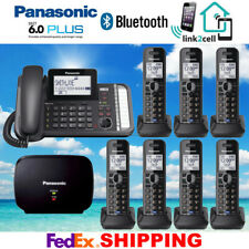 PANASONIC KX-TG9582B 2-LINE 1 CORDED 7 CORDLESS PHONES 1 REPEATER - NEW