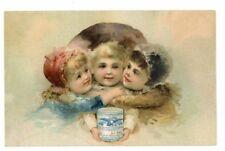 BORDEN'S  CONDENSED MILK, Victorian Trade Card, 262, three childern