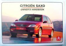 CITROEN SAXO - Original Car Owners Handbook - May 2001- # S8-GB1001/3