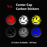 4x VAUXHALL Badge Logo Carbon Center Caps Alloy Wheel Hub Stickers - All Sizes