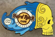 Hard Rock Cafe BRUSSELS 2014 Zodiac Skull Series AQUARIUS PIN LE 300! HRC #76394
