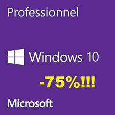 (-75%!!!) DVD + licence physique Microsoft Windows 10 Pro 64 bits FR OEM (NEW!)