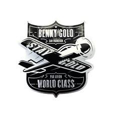 Deadstock Benny Gold Skateboard Par Avion Metal Streetwear Shop Advertising Sign