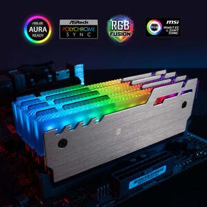 RGB Memory Cooler 5V 3-pin Addressable LED Aluminum Radiator RAM Cooling 2-Pack