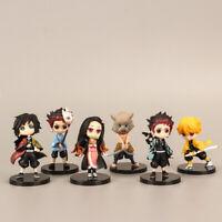 Anime Demon Slayer: Kimetsu no Yaiba Kamado Nezuko Figure Kids Toy 6PCS/SET