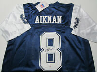 TROY AIKMAN / HALL OF FAME / AUTOGRAPHED DALLAS COWBOYS THROWBACK JERSEY / COA