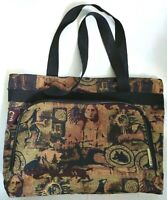 "Tapestry Shoulder Tote Bovano USA Bag Zip Purse 13"" x 14""  Native American"