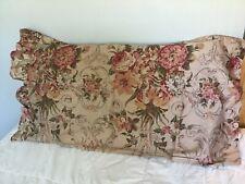 Ralph lauren medieval guinevere king size ruffled pillow case, USA