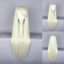 Hellblonde glatte Echthaar-Perücken & Haarteile mit klassischer Kappe Kunst