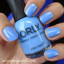 NEW! ORLY nail polish lacquer SNOWCONE ~ Bright Periwinkle Blue ~ full size