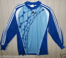 ADIDAS  Long Sleeve Blue Soccer  Shirt Jersey Men's Large