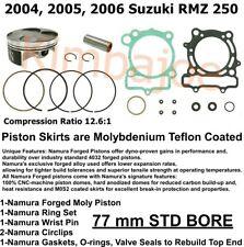 Size C 76.98mm Piston /& Gasket Kit 2007-2009 Suzuki RM-Z250 Standard Bore 77mm