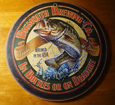 Big Mouth Brewing Co. Bass Fisherman Lodge Fishing Cabin Bar Home Decor Sign New