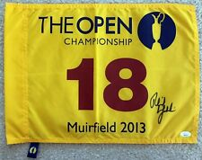 PHIL MICKELSON Signed Autographed 2013 British Open Pin Flag, Muirfield, JSA