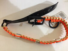 HEAVY HAULER DUCK BAND DOG COLLAR BRAIDED TAN AND ORANGE L LARGE NEW!