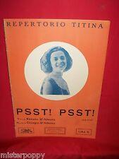 D'Alterio Psst! Psst! Repertorio Titina 1920s Spartito Gigante Music Sheet