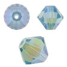 Swarovski Crystal Bicone. Aquamarine 2X Color. 4mm. Approx. 144 PCS. 5328