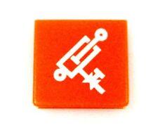 Schalter Symbolschild Symbolscheibe Leckölfreie Absperrung Hella neu