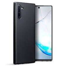 Samsung Galaxy Note 10 TPU Gel Silicone Rubber Thin Slim Cover Case Matte Black