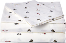 Fishing Flies Sheet Set Twin Cotton Percale Constructed With Crisp Cotton.
