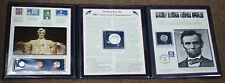 5 Coin and 9 Stamp Set w/ Commemorative Silver Dollar Honoring Abraham Lincoln