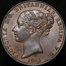 More details for 1861 | jersey victoria 1/13 of a shilling | copper | coins | km coins