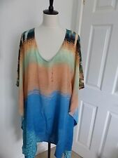 BNWT Paul Smith 100% Silk Beach Print Kaftan Cover Up Dress  one size