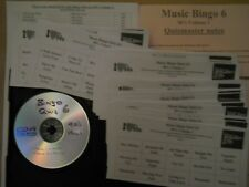 Pub/Club/Charity Bingo Music Quiz Game 6 = 50 Cards Played With 90's Songs Vol 1