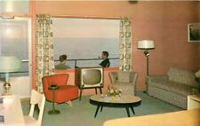Beacon Motor Hotel Jordon Station Ontario Canada Interior Sterling postcard 4613