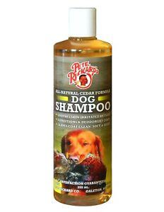 PETE RICKARDS - NEW HUNTING DOG SHAMPOO CEDAR FORMULA - MADE IN U.S.A.