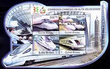 Guine-Bissau 2011 MNH Odd Unusual Shape SS, Railways Trains