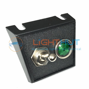 12V 25A Toggle Switch & Green Warning Light + Mounting Panel Classic Car Boat