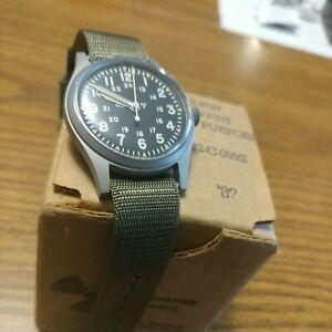 Hamilton 1982 issued US military men's watch, H3 Radium, Ref 46374B NIB rare