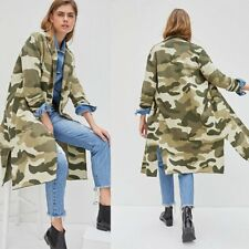 Maeve Anthropologie Kieran Camo Camouflage Cardigan Sweater Coat Size PS SP