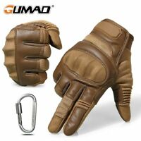 Hard Knuckle Tactical Full Gloves Army Military Combat Outdoor Climbing Paintbal