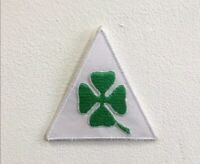 Irish leaf Shamrock art badge Embroidered Iron or sew on Patch