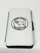 Derby County Leather Flip iPhone 4 5 6s 6+ 7 7plus 8 8+ X XS 11 Pro Max Case