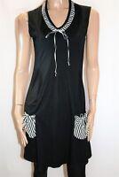 Teaberry Brand Black Striped Front Pocket Sleeveless Day Dress Size 8 BNWT #SI92