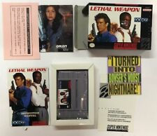Super Nintento Entertainment System LETHAL WEAPON SNES USA