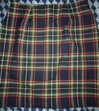 DAILY HABIT JUNIORS BLUE, GREEN, RED PLAID KNEE LENGTH CAREER LINED SKIRT SIZE 9