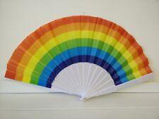 3 PCs RAINBOW HAND HELD Folding Fan Dance Wedding Party Decor Fan