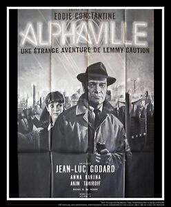 ALPHAVILLE Jean Luc Godard 4x6 ft French Grande Movie Poster Original 1965