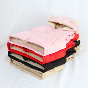Boys Girls Kids Baby Vest Gilet Hooded Coat Bodywarmer Thicken Vests Outerwear