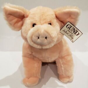 Gund Animal Alley Gibbler Stuffed Pig Plush Toys R Us Soft